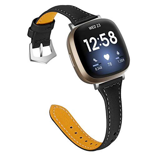 XIALEY Correas Compatible con Fitbit Versa 3 / Sense, Correa De Cuero De Repuesto para Mujer, Hombre, Pulsera, Correas De Reloj, Pulsera Compatible con El Reloj Inteligente Versa 3 / Sense,C