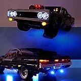 EDCAA Kit de iluminación LED para Technic Fast & Furious Dom's Dodge Charger Racing Car Set compatible con Lego 42111 (no incluye modelo)