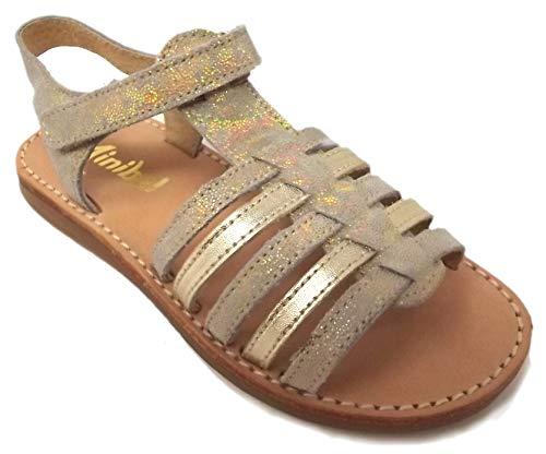 Minibel - Chaussures Noel - Sandales - Nu Pieds - MODELE Paris Or - Taille 37 EU
