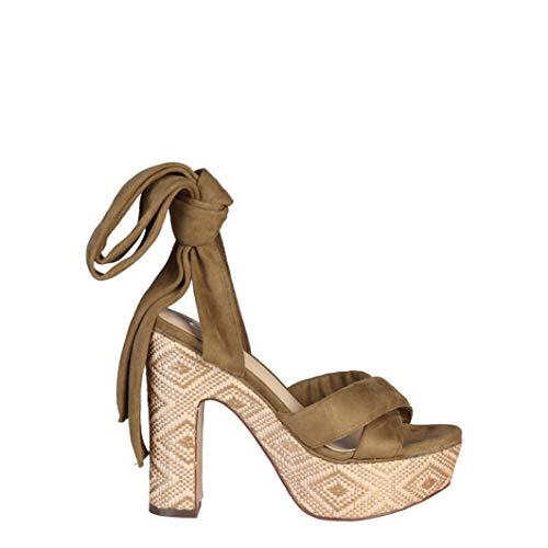ANA LUBLIN Women's Sandals, Rubia_Oliva Green