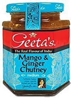 "Geeta""s herzhafte Mango & Ingwer Chutney, 320g"