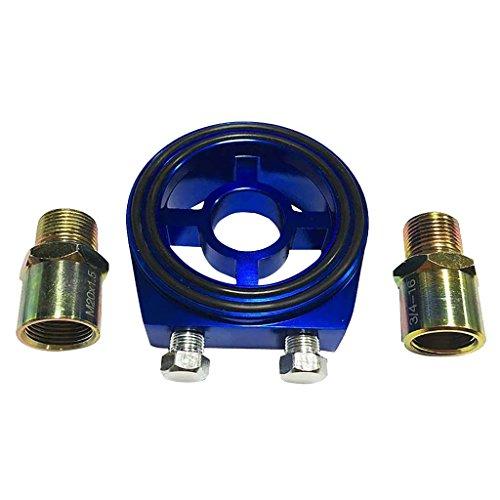 MagiDeal Ölfilter Adapter Set, Öltemperatur, Öldruckgeber mit 1/8 NPT Stecker - Blau