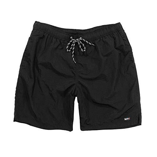 Shorts de bain de Greyes noir grandes tailles jusqu'à 8XL, Taille:3XL
