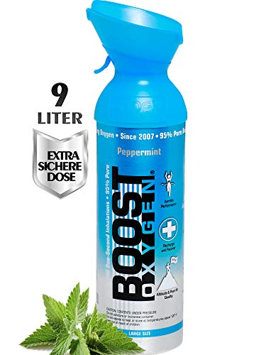 Boost Oxygen Peppermint, Oxygen Canister, 9 litres - Large Size Can