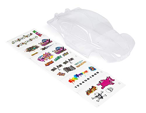 Custom Body Unpainted with Stickers Compatible for 1/10 Scale RC Car or Truck (Truck not Included) STB-C-01
