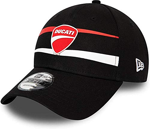 New Era Sp20 Stripe 940 Ducati Gorra, Unisex Adulto, Black, Talla Única