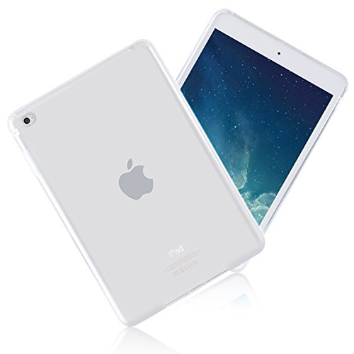 iCoverCase for iPad Mini 4 Case, Ultra-Thin Silicone Back Cover Clear Plain Soft TPU Gel Rubber Skin Case Protective Shell for iPad Mini 4 7.9' (Clear)