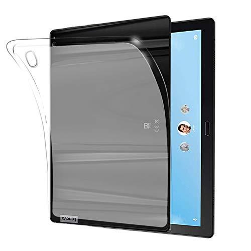 NUPO Hülle für Lenovo Tab M10 TB-X605F/TB-X605L 10.1 Zoll 2018, Ultra Slim Translucent Soft TPU Silikon Tablet Crystal Durchsichtige Schutzhülle Hülle für Tab M10 TB-X505F/TB-X505L(Matt weiß)