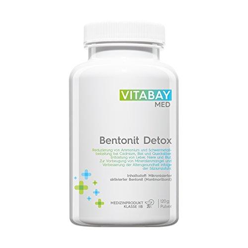Bentonit Detoxpulver ultrafein 120g - über 90% Montmorillonit - Entgiftung & Schwermetallausleitung