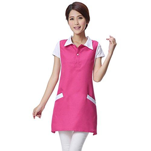 Bverionant Women Schürze Schürze für Hotel Überwurfschürze Arbeitskleidung für die Küche Rose Eine Größe