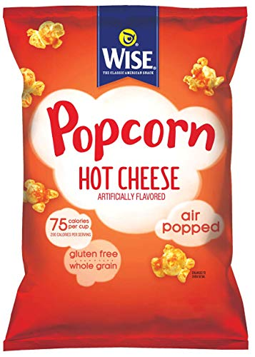 Wise Snacks Hot Cheese Popcorn, .875 Ounce (36 Count), Gluten Free, Whole Grain, Air Popped