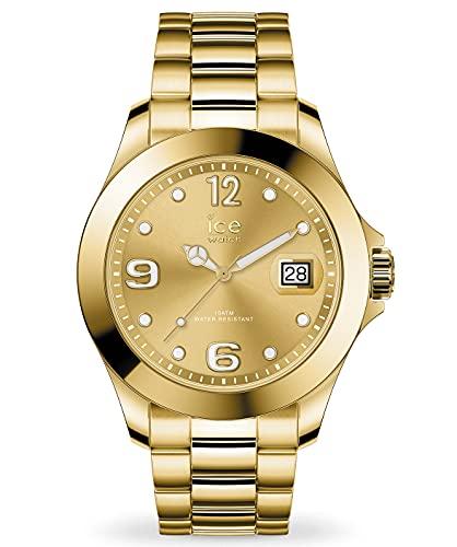 ICE-WATCH Ice Steel Gold - Reloj Dorado para Mujer con Correa de Metal, 016916 (Medium)