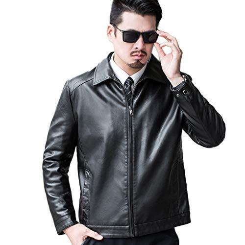 Herenjas van leer voor buiten, winter, herfst, warme bovenkleding voor mannen over de grootte van een waterdicht motorjack.