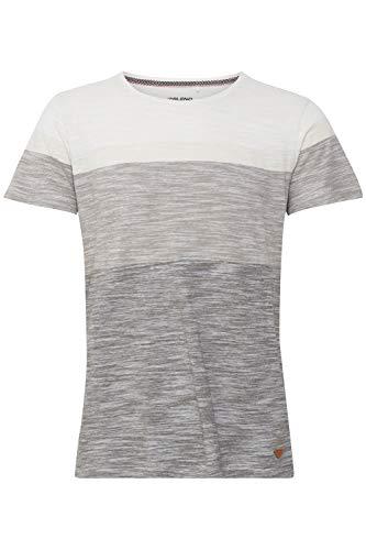 Blend Jakob Herren T-Shirt Kurzarm Shirt mit Colorblockmuster und Rundhalsausschnitt aus 100% Baumwolle, Größe:M, Farbe:Egret (110103)