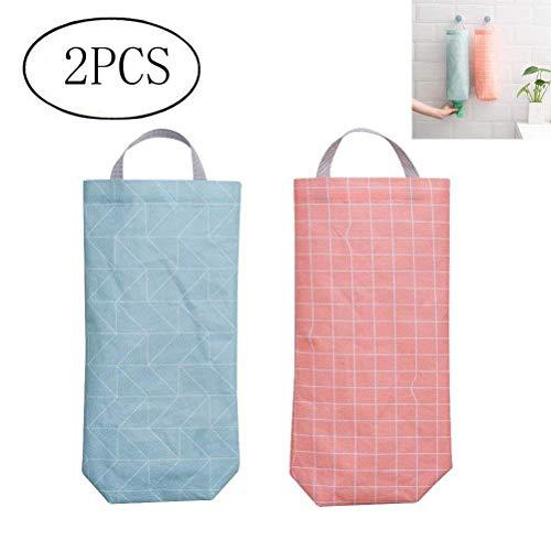 OUNONA 2PCS supporto sacchetto di plastica impermeabile montaggio a parete dispenser sacchetto della spesa sacchetto di immondizia organizzatore titolare sacchetto di plastica ed erogatore