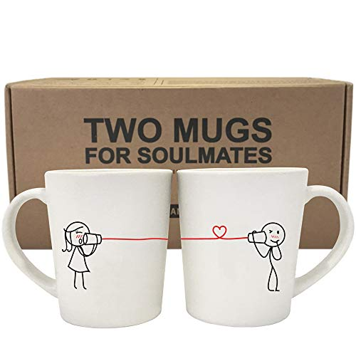BOLDLOFT Say I Love You His and Hers Coffee Mugs-Couple Mugs Set