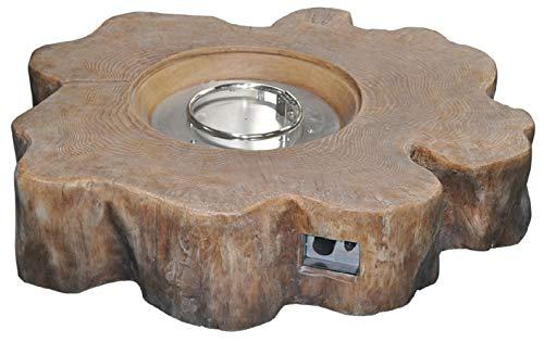 Envelor Log GRC Propane Tank Cover Outdoor Patio Furniture Brown Liquid Propane Tank Hideaway End Side Table