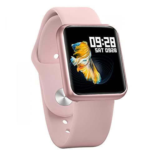 APCHY Hombre Mujer Smart Watch Bluetooth SmartWatch Impermeable para el Reloj Monitor de Ritmo cardíaco Monitor Fitness Tracker(68s Rosa)