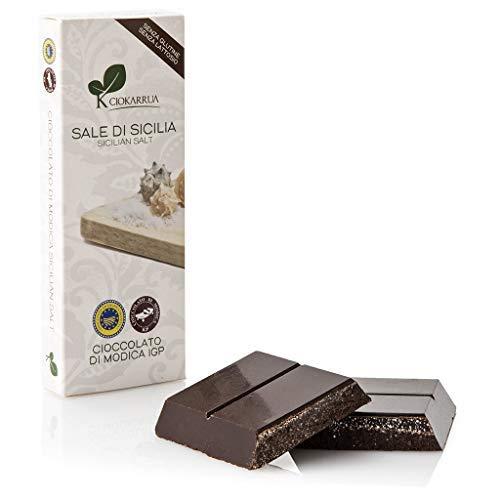 Ciokarrua Cioccolato di Modica al Sale delle Saline di Trapani Senza Glutine Senza Lattosio - 1 x 100 Grammi