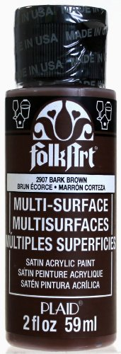 FolkArt Multi-Surface Paint in Assorted Colors (2 oz), 2907, Bark Brown