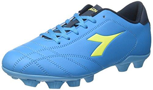 Diadora Herren 6play Md Fußballschuhe, Blau (Blu Fluo/Giallo Fluo), 39 EU