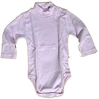 Body Neonato Lupetto con Manica Lunga 2 pz AF2800 cotone interlock collo alto Celeste, 12 Mesi