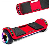 Latest Model Electric Hoverboard Dual Motors Two Wheels Smart self Balancing Scooter with Built in Speaker LED Lights for Gift (Blue)
