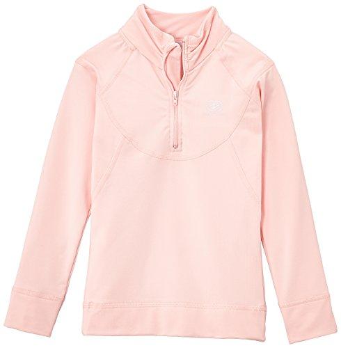 Damartsport Col Zippé T-Shirt Manches Longues Fille, Rose Bonbon, FR (Taille Fabricant : 10 Ans)