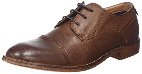 Steve Madden Footwear Qhantim Low, Zapatos de Cordones Derby Hombre, Marrón (Tan), 41 EU