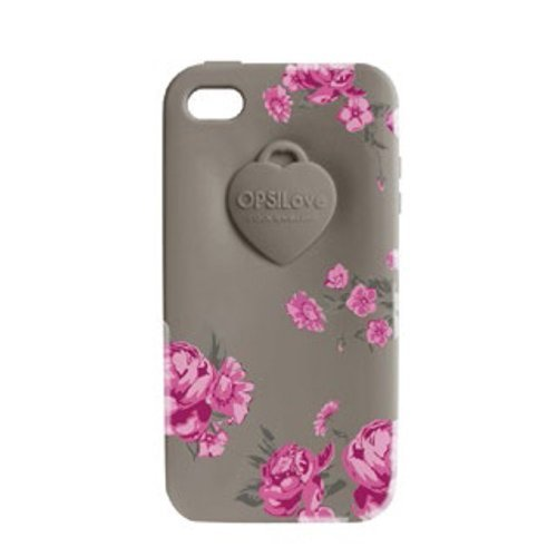 Cover OPS Objects FLOWER iPhone 4 Grigio OPSCOVI4-16