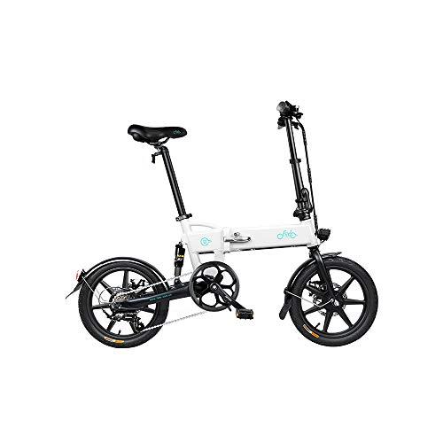 Bestice Mountain Bike elettrica FIIDO D2S Ebike, Bici da 16 Pollici Bici elettrica Pieghevole Motore da 250 W Watt 6 velocità Bici elettrica per Adulti pendolarismo in Città (Bianco)