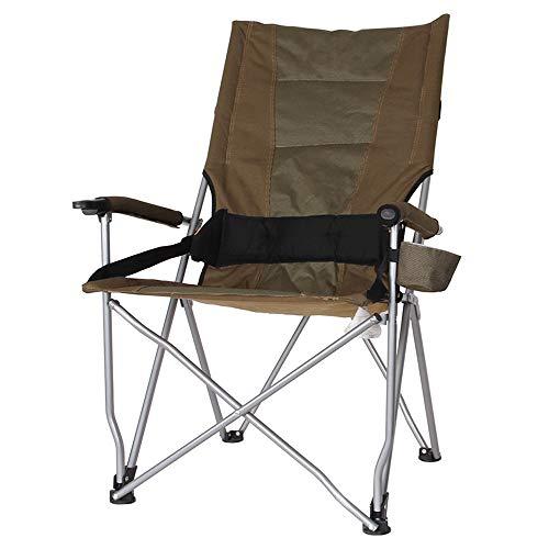 Porta Folding Camping Stuhl Tragbarer Patio Lounger Chair Unterstützung Freizeit Strand-Stuhl Garten Lehnstuhl Sessel - mit Cup Loch Sitz (Color : Gray)