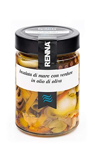 Insalata di mare con verdure in olio di oliva - Renna antipasti - 6 vasetti da 300gr
