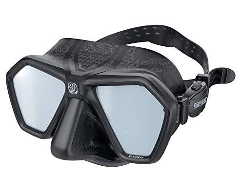 SEAC Eagle Mascara para apnea y Pesca submarina, Unisex-Adult, Negro LSG, One Size