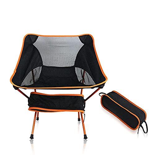 ZHAOMAI Silla Camping - Sillas de Camping Plegables ultraligeras, compactas, sillas al Aire Libre portátiles con Bolsa de Transporte para Acampar, Senderismo, Pesca, jardín, Playa y Barbacoa.