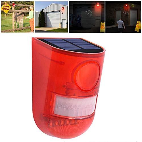 buycheapDG(JP) 防犯アラーム ソーラー 盗難防止 人感センサー セキュリティライトアラーム 警光灯 IP65防水 サイレン 大音量警報 警戒 農場被害に 野外 倉庫 車庫 畑などの防犯 N911 DC充電+リモコンなし