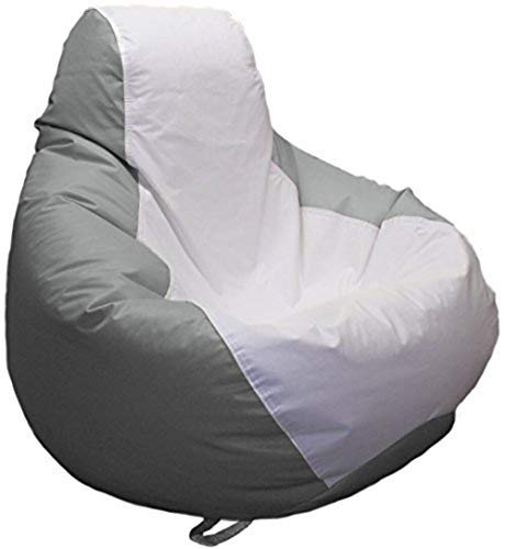 Ocean-Tamer Medium Teardrop Marine Bean Bag (White/Gray)
