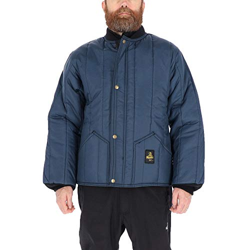 RefrigiWear Men's Cooler Wear Lightweight Insulated Workwear Jacket (Navy Blue, X-Large)
