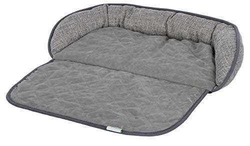 """Kerbl Couchkissen """"Emalia"""" für Hunde und Katzen, schützt die Couch vor Haaren und Schmutz, in grau, in Zwei Größen (60 x 40 cm)"""