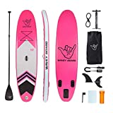 WAVEY BOARD Inflatable 10' Stand Up Paddle Board Premium SUP Bundle |...