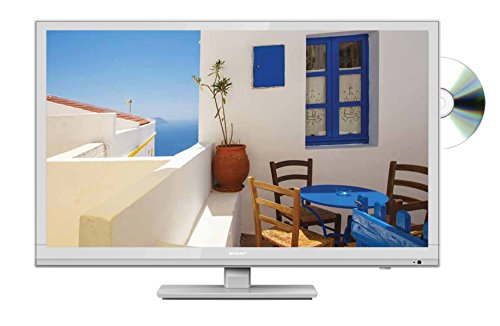 Sharp LC-24DHF4011KW 24 Inch HD Ready LED TV with Freeview HD, Built-In DVD Player, 2 x HDMI, Scart, USB Record and Media Player - White