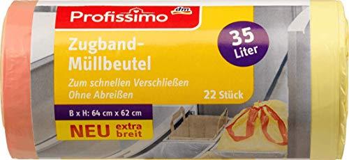 Profissimo Zugband-Müllbeutel 35L extra breit, 1 x 22 St
