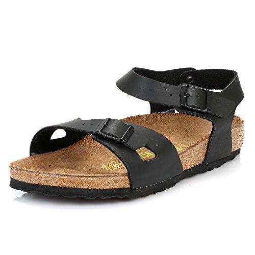 Birkenstock Schuhe Rio Birko-Flor Normal Black (031791) 37 Schwarz