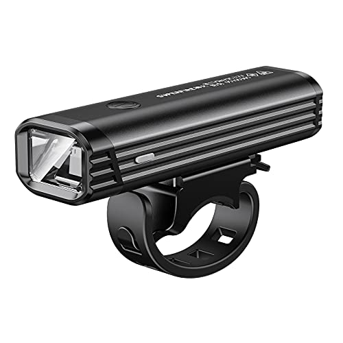 SuperFire Ultra Bright USB Rechargeable Bike Headlight 400 Lumen Built in Battery Bicycle LED Headlight Waterproof Accessories Aluminum Alloy Anti-Glare Cycling Light Safety Flashlight