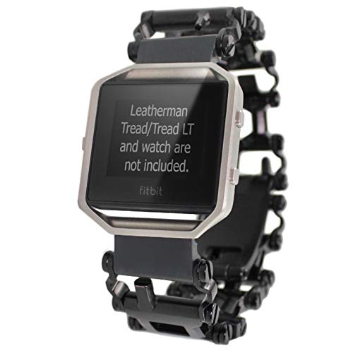 BestTechTool watch adapter compatible with LEATHERMAN TREAD and compatible with FITBIT BLAZE, Versa and Versa 2/Samsung Gear S3/LG Watch R and Urbane - BTT adapter (TREAD, Black)