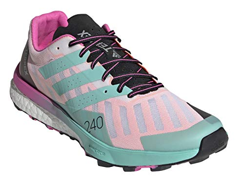 adidas Terrex Speed Ultra Hiking Shoes FTWR White/Acid Mint/Screaming Pink 7.5 B (M)