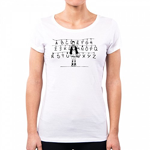 PacDesign T-Shirt Donna Stranger Things Eleven Wall Black Pd1562a