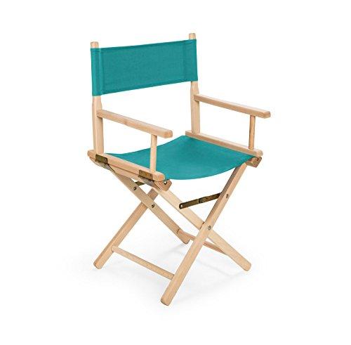 IMPWOOD REGIESTUHL Stuhl aus Holz Campingstuhl (türkis)