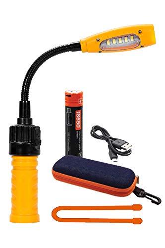 Go-to Work Light, Magnetic Base& Flexible Gooseneck, Handheld Flashlight & Flood Light, USB Rechargeable Battery Powered, 400 Lumens LED …