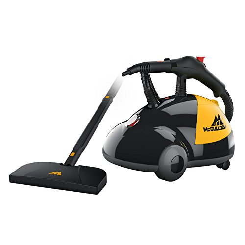 Product Image of the McCulloch MC1275 Heavy-Duty Steam Cleaner with 18 Accessories, Extra-Long Power Cord, Chemical-Free Pressurized Cleaning for Most Floors, Counters, Appliances, Windows, Autos, and More, Yellow/Grey